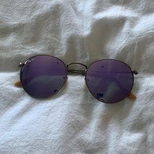 Ray-Ban Round Lilac Sunglasses